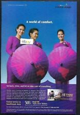 THAI AIRWAYS A WORLD OF COMFORT SIT BACK,RELAX LET US TAKE CARE OF EVERYTHING AD