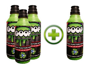 Goop Tyre Puncture Preventative Puncture Sealant Bundle 4 X 500ml / Made in UK
