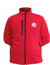 MG BRANDED SOFT SHELL JACKET, RED, BRAND NEW, SIZES MED-XL (10296768/9/70)