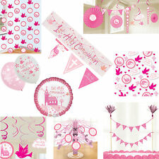 Girls Pink 1st Holy Communion Celebration Party Decorations Church Doves Crosses