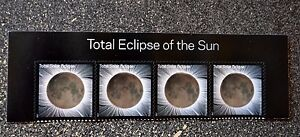2017USA #5211 Forever - Total Eclipse of the Sun - Header Block of 4  - Mint NH