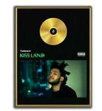 The Weeknd Poster, Kiss Land  GOLD/PLATINIUM CD, gerahmtes Poster HipHop Rap