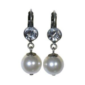Konplott Halskette Collier Pearl Shadow grau Schwarzer Diamant