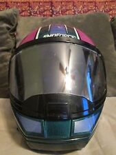 Yamaha Snoforce Helmet, Medium, Snell, Lazer, Made in Belgium, Purple Pink Teal