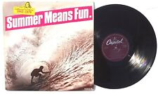CALIFORNIAN SURF MUSIC 1962-1974 LP CAPITOL RECORDS Holland 1980 NM