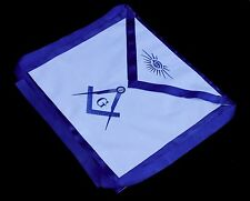 Masonic Square Compass EMBROIDERED Apron Freemason Blue Lodge Fraternity DMA1000
