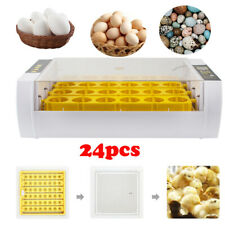 Automatic Poultry 24 Eggs Incubator Led Display Turning Temperature Control Heat