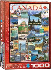 Travel Canada Vintage Posters 1000-Piece Puzzle