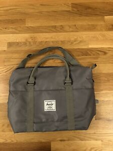 Herschel Supply Co. Grey Nylon Tote Bag Shopping Travel Shoulder Carry