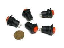 5 Pieces Red square Latching 12mm push button Switch 12v on off pin DS-226 A34