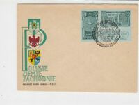 Poland 1962 Polish Western Territories Slogan Cancel FDC Stamps Cover Ref 25105
