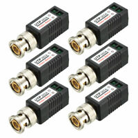 Video Balun Transceiver CCTV Camera Passive BNC Connector CAT5 UTP-202A , 6 Pcs