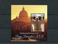 Guyana 2015 MNH Celebrating Papacy of Pope Benedict XVI 1v S/S Popes