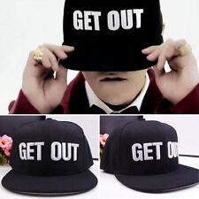 Bigbang G-DRAGON Baseball Hat Street Dance Letter Get Out Snapback Hip-Hop Cap