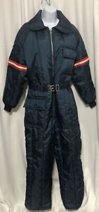 JCPenney Woman's Snowmobile/ski/snowsuit Size LG 16-18 With Belt Navy Blue