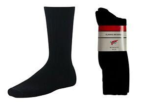 Red Wing Heritage Classic Rib Socks, Black,  Wool Size: 9-12 55056
