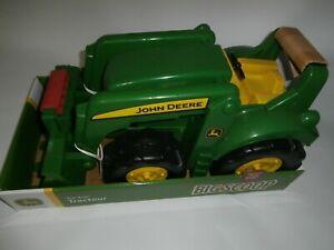 "Tomy John Deere 22"" Big Scoop Toy Tractor Loader Built Sandbox Tough"