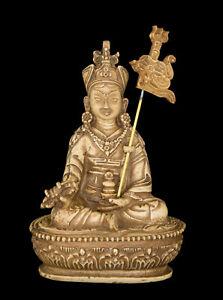 Guru Padmasambhava Rinpoche Statue Tibetan Resin Beige 14.5 CM 7141