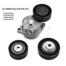 Serpentine Belt Tensioner & Idler Pulley Kit For BMW E36 E39 E46 E53 11281427252