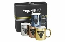 Triumph Motorcycles Metallic Mug Set Pack of 4