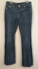 Women's ana Jeans Boot Cut Embroidery Medium Wash Size 30/10 Stretchy