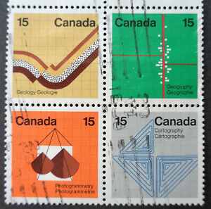 CANADA#582-585 used 1972 earth sciences block. We combine shipping