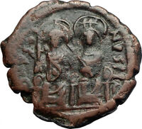 Byzantine (300-1400 Ad) Well-Educated Justin Ii And Sophia 565-578 Ad Large K