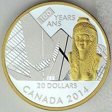Canada 2014 $20 Cleopatra100th Anniversary Royal Ontario Museum 1 oz Pure Silver
