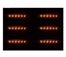 6X 24V LED FEUX DE GABARIT LATERAUX ORANGE POUR CAMION CARAVANE SHASSIS REMORQUE