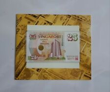Singapore $25 Commemorative Banknote 052535 With Folder UNC