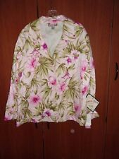 NEW Jamaica Bay Jacket Sz 3X Tropical Cotton Spandex Chest 56 Length 25 in