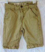 Boys George Beige Tan Adjustable Waist Chino Cotton Board Shorts Age 5-6 Years
