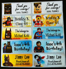 40 LEGO MOVIE Custom Waterproof Name Labels-SCHOOL,DAYCARE(Buy 5 get 1 FREE)