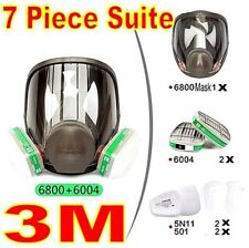 3M 6800+6004 7piece Suit Respirator Facepiece for Ammonia Methylamine mask siz M