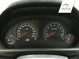 3D for BMW M3 M4 F80 F82 F83 - Speedometer dials from MPH to Km/h cluster gauges