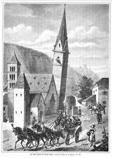 Terlan, Alto Adige, Etschtal, la Torre Pendente, originale-chiave in legno di 1884