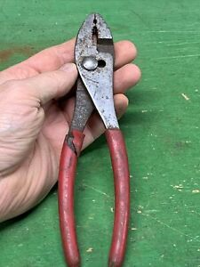 "👉 Mac 8"" Long Slip Joint Plier Red Grip USA 👀"