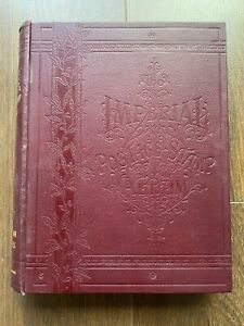 Commonwealth Stamp Collection in Beautiful Antique Imperial Album High Cat Value