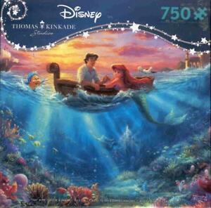 Thomas Kinkade Disney Jigsaw Puzzle Little Mermaid Falling in Love NIB