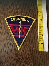 Croswell, Michigan, Emergency Medical Service , Patch, Free Shipping