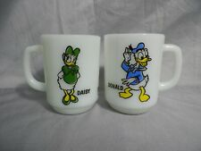 Donald & Daisy Fire King Coffee Mugs Cups Anchor Hocking Pepsi Collector Series