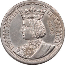 1893 ISABELLA 25c COMMEMORATIVE - UNCIRCULATED BUT CLEANED!