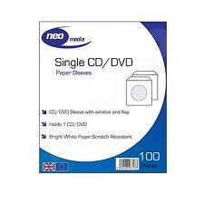 Neo Media papier CD/DVD de protection manches / 100 par paquet