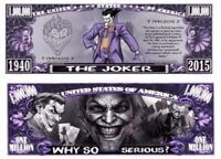Pack of 50 - The Joker Comic Collectible Novelty Dollar Bill Limited Edition
