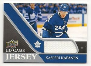 Kasperi Kapanen 20-21 Upper Deck 1 UD Game Jersey Game Used Jersey