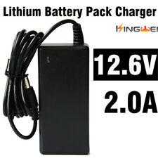 1pcs KingWei Adapter DC 12.6V 2A AC Black Plug US UK EU Supply Power Charger