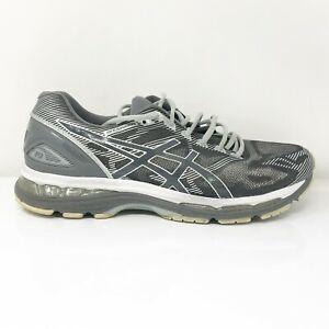 Asics Mens Gel Nimbus 19 T700N Gray Black Running Shoes Lace Up Low Top Sz 11.5