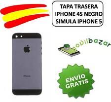 TAPA TRASERA NEGRA IPHONE 4S NUEVA CONVERSOR IPHONE 5 5S