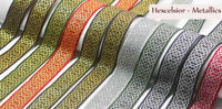 "Jacquard Ribbon  1"" (25mm) Celtic Hexagonal Rope lots of colors"