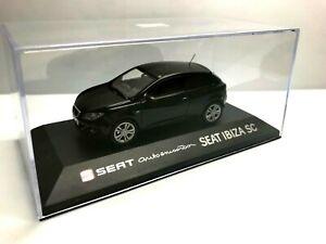 IXO FISCHER 1/43 SEAT IBIZA SC 3 PUERTAS NEGRO BLACK AUTO EMOCION CONCESIONARIO